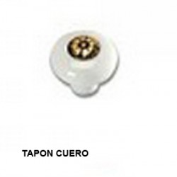 POMO PORCELANA - TAPON CUERO - 81