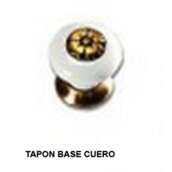 POMO PORCELANA-TAPON / BASE CUERO - 81
